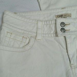CAbi White Wide Leg Jeans Size 10